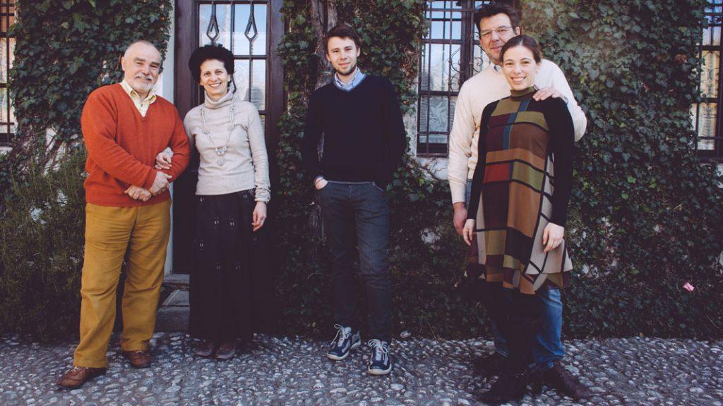 Josko Sirk mit Loredana, Mitja, Alessandro Gavagna und Tanja