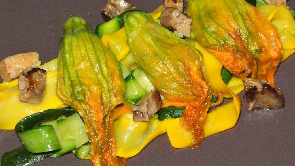 Fiori di Zucca mit Gemüse und Foie gras - goodstuff AlpeAdria