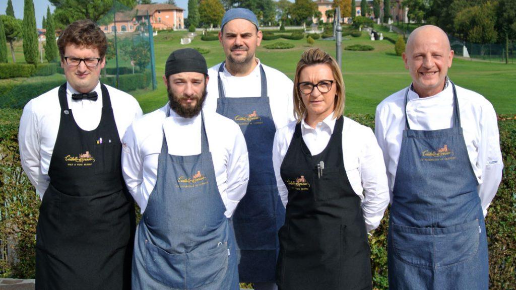 Chef Antonio Venica, Dana Miron und das Tavernetta-Team - goodstuff AlpeAdria